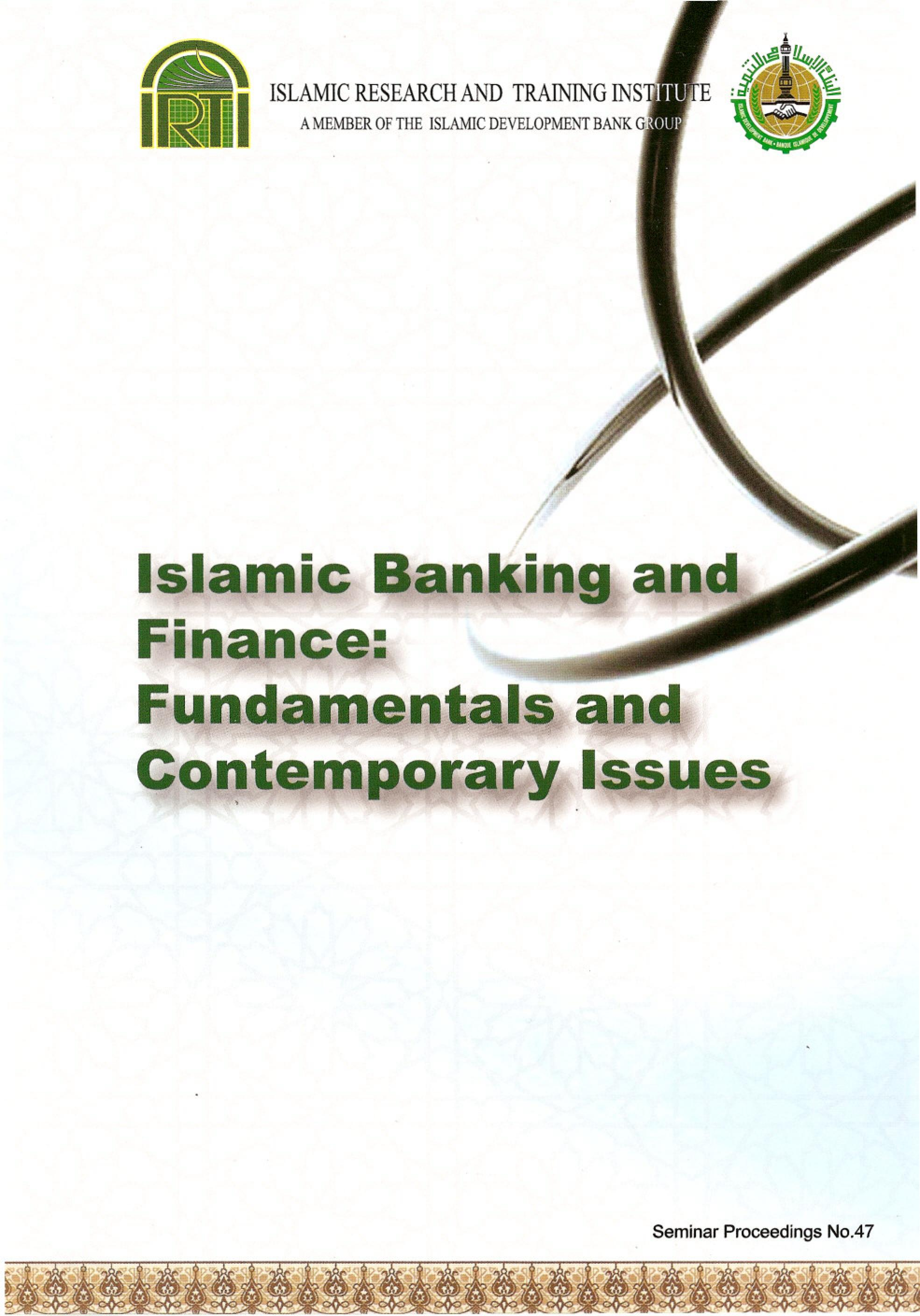 research paper islamic finance The research is an attempt to have an overview of the need of derivatives and their possible role in islamic finance stressing on the shariah qualification and.